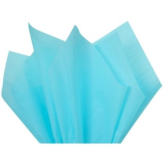 """(480 pack) Solid O x Ford Blue Tissue Paper 15 x 20"""" Sheet Half Ream"""