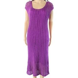 Lauren By Ralph Lauren NEW Purple Womens Size Small S Sweater Dress