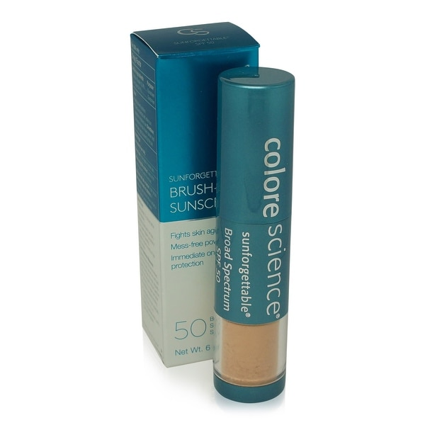 Colorescience Pro Sunforgettable Mineral Powder Brush-Medium SPF 50 Matte 0.21 Oz
