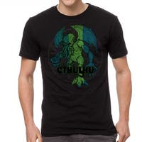 Warpo Cthulhu Distressed Men's Black T-shirt