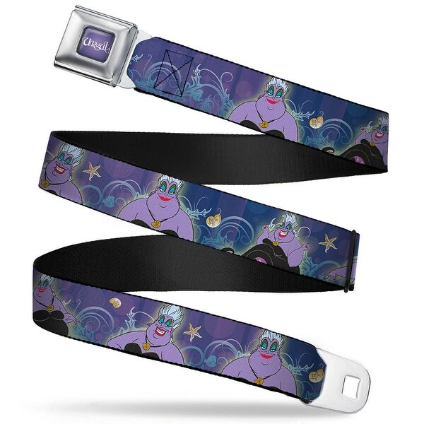 Ursula Full Color Purple Fade White Ursula 4 Poses Shells Ivy Bubbles Seatbelt Belt