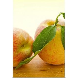"""""""Studio shot of peaches"""" Poster Print"""