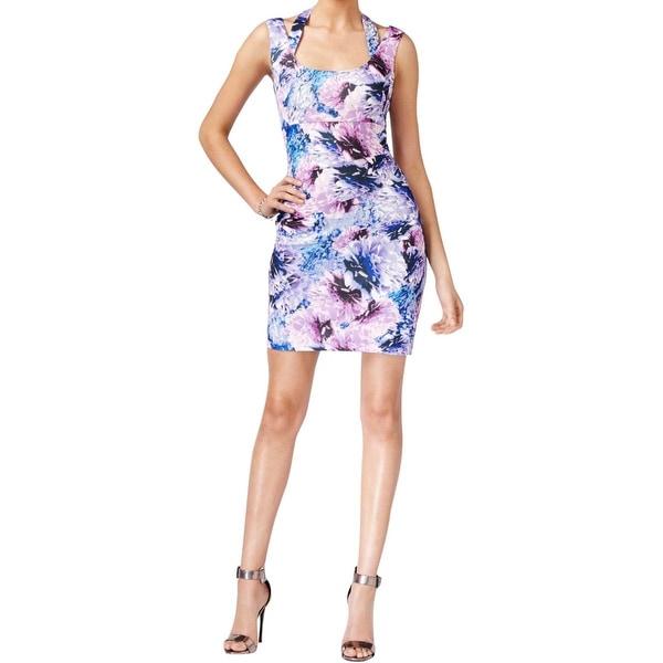 Guess Womens Scuba Dress Printed Cutout