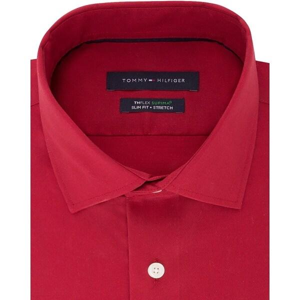 red tommy hilfiger shirt mens