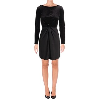 MICHAEL Michael Kors Womens Petites Cocktail Dress Velvet Boatneck - pm