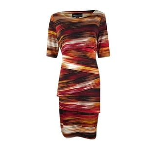 Connected Women's Printed Tiered Jersey Dress