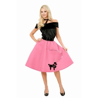 Fuschia Pink Poodle Skirt 50's Plus Size Costume