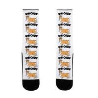 LookHUMAN Unicorg Parody US Size 7-13 Socks