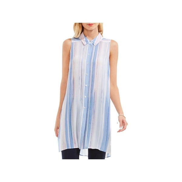 686fd2b45b1 Shop Two by Vince Camuto Womens Tunic Top Striped Button Down - Free  Shipping On Orders Over $45 - Overstock - 21248268