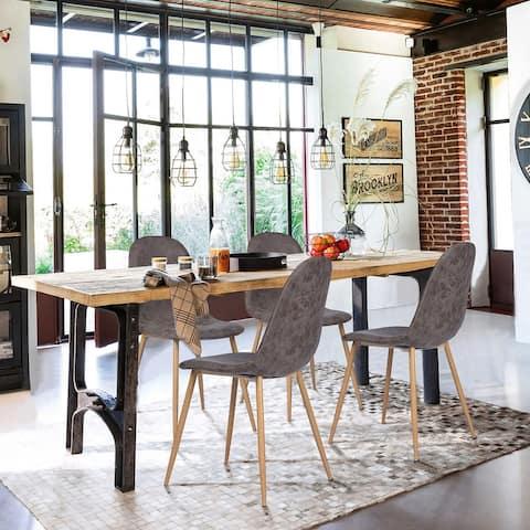 Carson Carrington Mid-Century Modern PU Dining Chair (Set of 4)