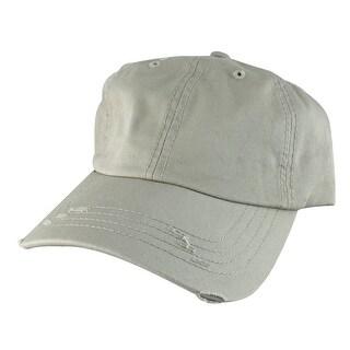 959 Series Curve Visor Cotton Unstructured Vintage Frayed Strapback Hat Cap - Beige