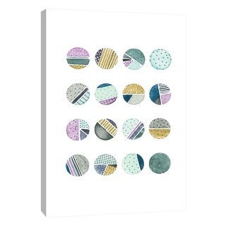 "PTM Images 9-105600  PTM Canvas Collection 10"" x 8"" - ""Quilted Spheres 4"" Giclee Patterns and Designs Art Print on Canvas"