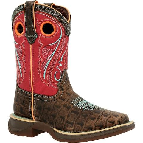 #DBT0233C, Lil' Rebel by Durango® Little Kids Gator Emboss Western Boot