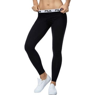 Fila Womens Athletic Leggings Yoga Solid - L