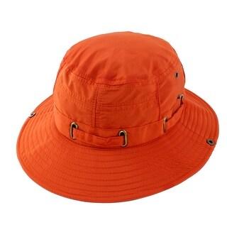 Fisherman Cotton Blends Hunting Wide Brim Bucket Summer Cap Fishing Hat Orange