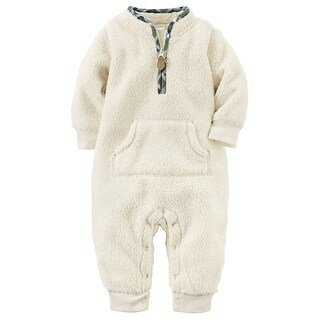 Carter's Baby Boys' Sherpa Jumpsuit, 18 Months