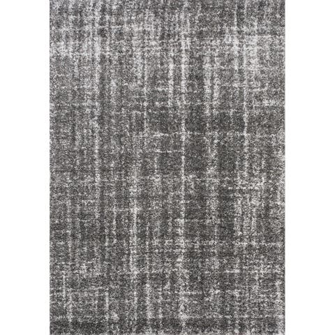 Kipling Crosshatching Grey Cream Rug