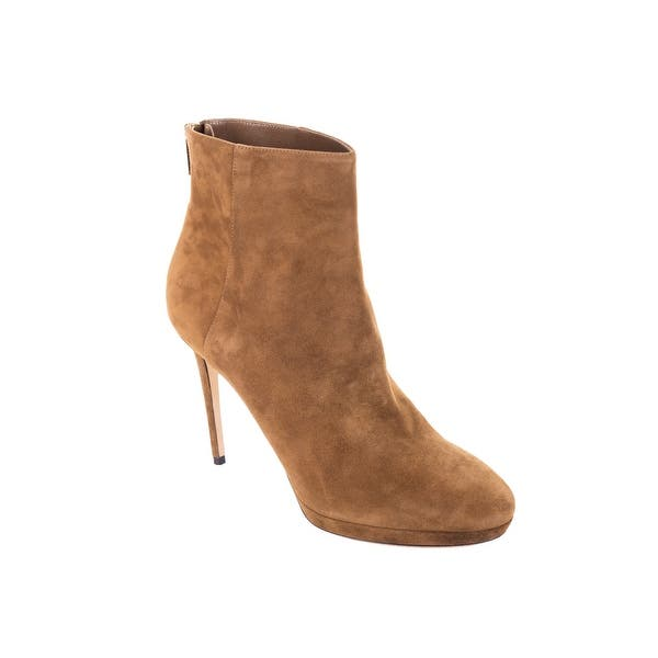 768ede4f8 Shop Jimmy Choo Brown Suede Harvey 100 Heeled Ankle Boots - Free ...