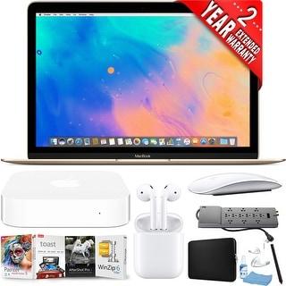 Apple 12 MacBook Mid 2017, Gold Bundle laptop + accessories