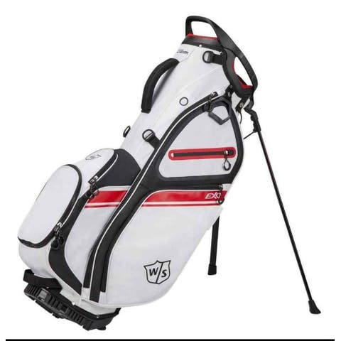 Wilson Staff EXO II Stand Golf Bag, 5 Divided Club Sections - White/Black/Red - White
