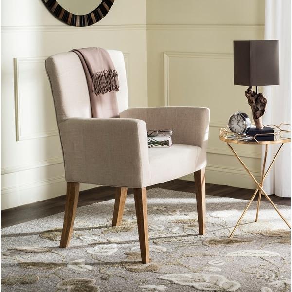 "SAFAVIEH En Vogue Dining Dale Hemp Linen Arm Chair - 26.8"" x 25.8"" x 39.2"". Opens flyout."