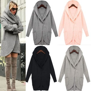 Hooded Trench Coat with Pockets