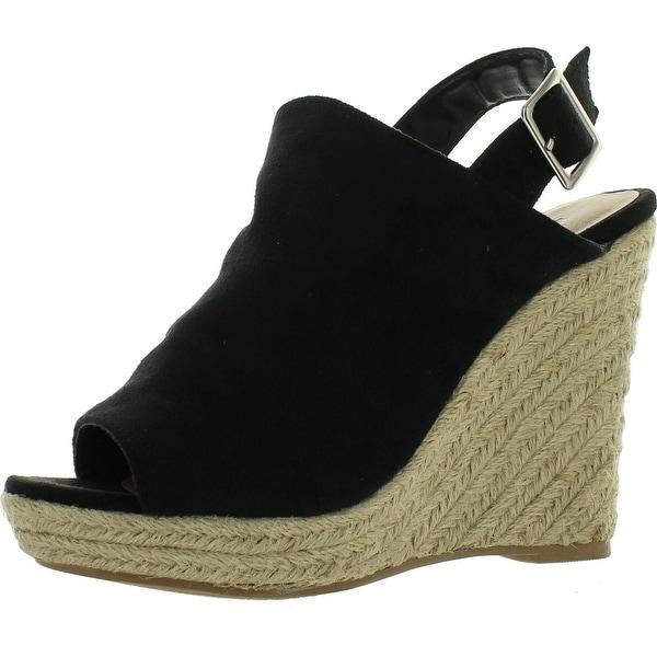 Breckelles Denise-21 Womens Sling Back Espadrille Wedge Heels