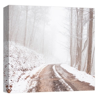 "PTM Images 9-124636  PTM Canvas Collection 12"" x 12"" - ""Foggy Road I"" Giclee Forests Art Print on Canvas"