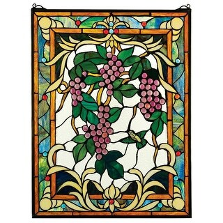 Design Toscano The Grape Vineyard Stained Glass Window