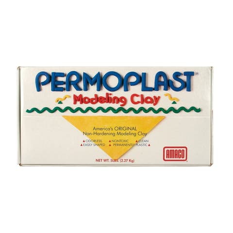 Permoplast Modeling Clay, Cream, 5 lbs.