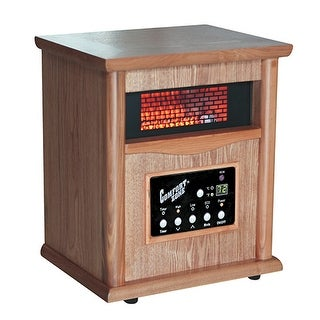 Comfort Zone CZ2020O Portable Infrared Space Heater - wood grain