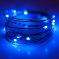 Wintergreen Lighting 50128 18 Bulb Battery Operated Blue Fairy LED Lights