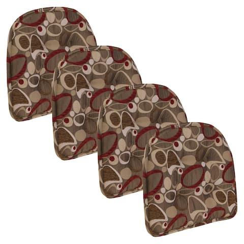 Klear Vu Tufted No Slip Dining Chair Pad Cushion Set of 4