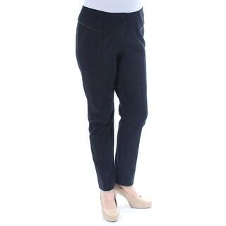 Womens Black Wear To Work Skinny Pants Size 24W