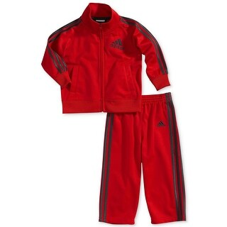 Adidas Boys 4-7X Tricot Set - Red