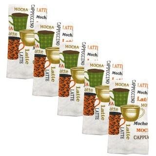 Kitchen Collection 5-Piece Mocha Latte Towel Set, Multi, 15x25 Inches - N/A