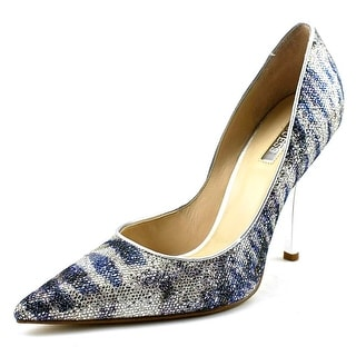 Guess Carrielee 4 Women Pointed Toe Canvas Blue Heels