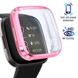 Link to For Fitbit Versa 2 Screen Protector with Soft TPU Rubber Case Bumper Clear/Pink - Clear Similar Items in Activity Trackers & Pedometers