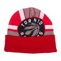 9669cd2872e Mitchell   Ness Toronto Raptors Stop on a Dime Cuffed Beanie (100% Acrylic)