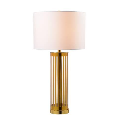 "Marni Gold Striped Glass 29 Inch Table Lamp - 29"" H x 14.5"" Dia."