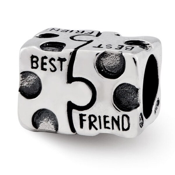 Sterling Silver Reflections Best Friend Bead (4mm Diameter Hole)