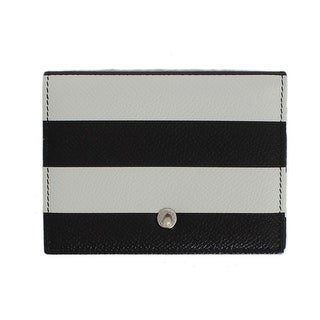 Dolce & Gabbana Dolce & Gabbana White Black Leather Wallet - One size