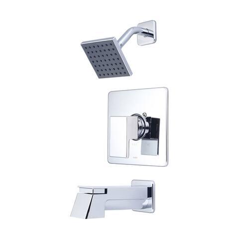 Pioneer Mod Collection - Single Handle Tub and Shower Trim Set - Polished Chrome