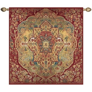 "Grand Bazaar Istanbul Elaborate Red Cotton Wall Art Hanging Tapestry 70"" x 70"""