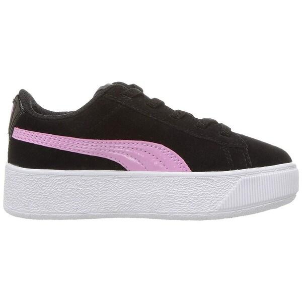 Shop Kids Puma Girls Vikky Platform Low Top Lace Up Walking