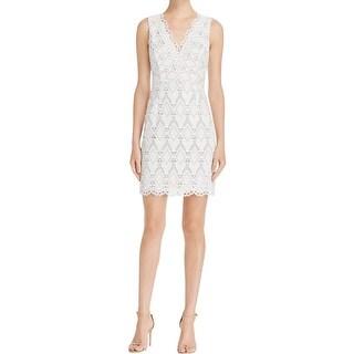 Aqua Womens Bodycon Dress Lace Overlay Sleeveless