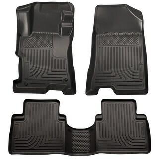 Husky Weatherbeater 2008-2012 Honda Accord 4 Door Black Front & Rear Floor Mats/Liners