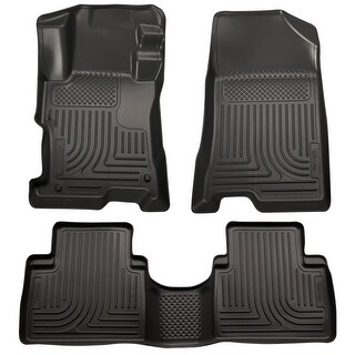 Husky Weatherbeater 2011-2015 Hyundai Sonata Hybrid/Hybrid Limited Black Front & Rear Floor Mats/Liners