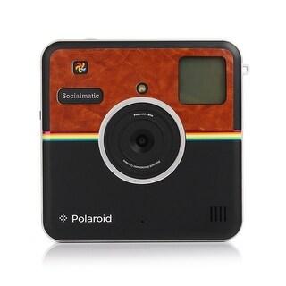 Polaroid Custom Designed Front Sticker for Polaroid Socialmatic - Matte Brown Leather Look