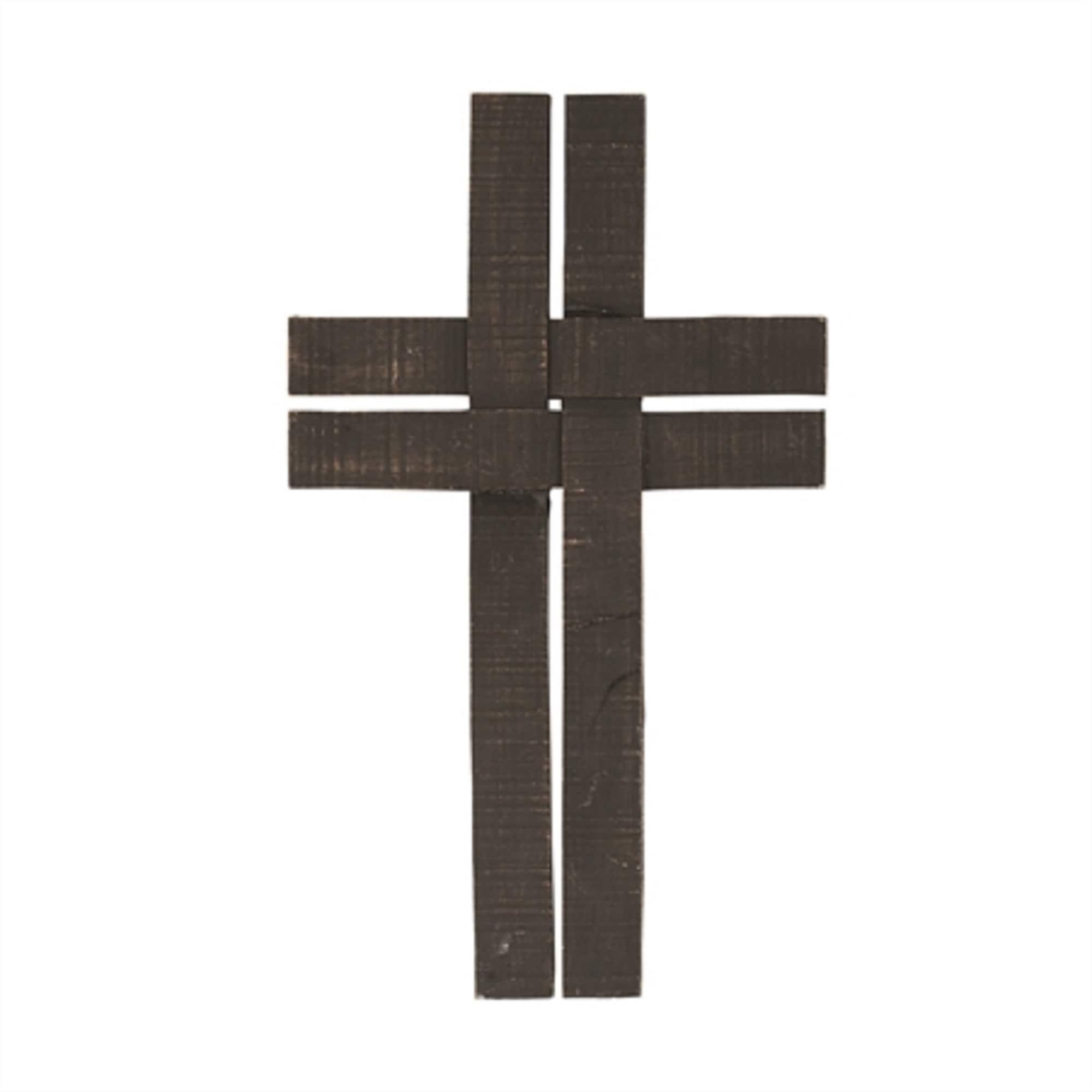 Cross Shaped Religious Wall Decor